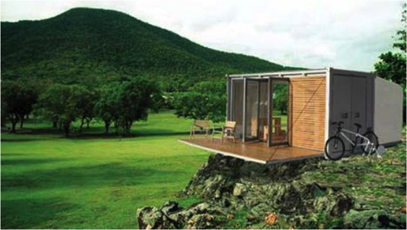 Image - Container home foundation ...